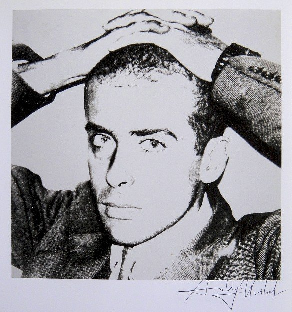 Andy Warhol, signed Print, Francesco Clemente, 1986