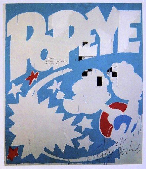 Andy Warhol, signed Print, Popeye, 1986