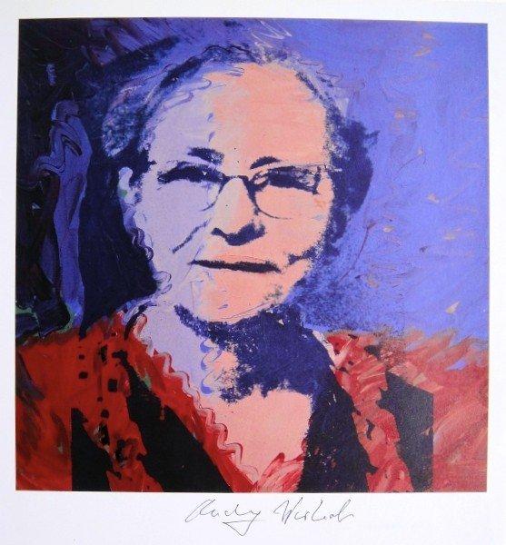 Andy Warhol, signed Print, Julia Warhola, 1986