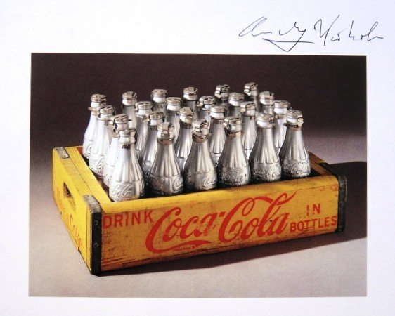 Andy Warhol, signed Print, Silver Coke Bottles, 1986