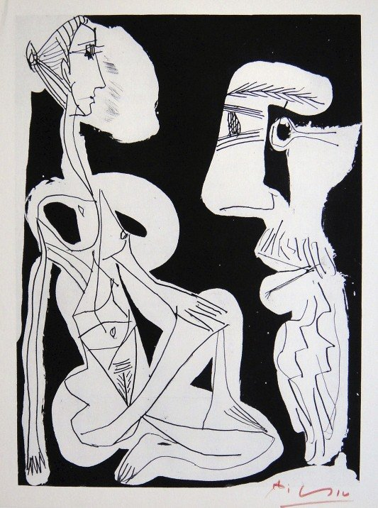PABLO PICASSO, Signed offset lithograph 1966
