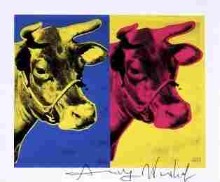 Andy Warhol, signed Print, Cow, 1986