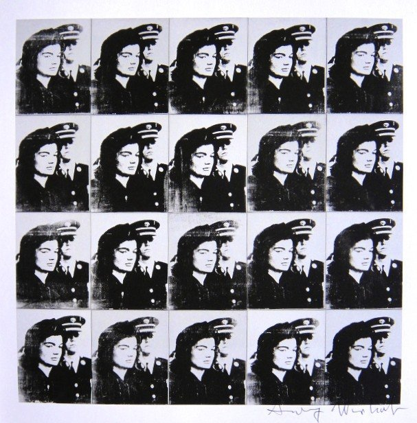 Andy Warhol, signed Print, Twenty Jackies, 1986