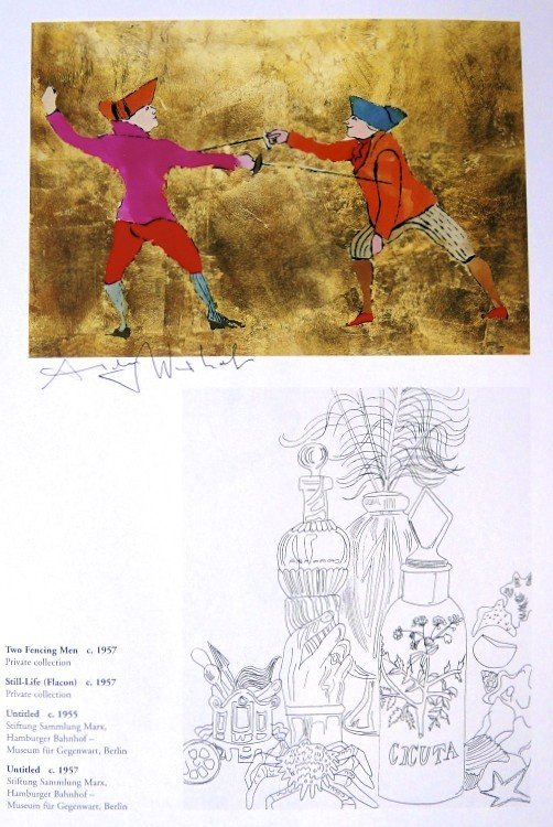 Andy Warhol, signed Print, Two Fencing Men -