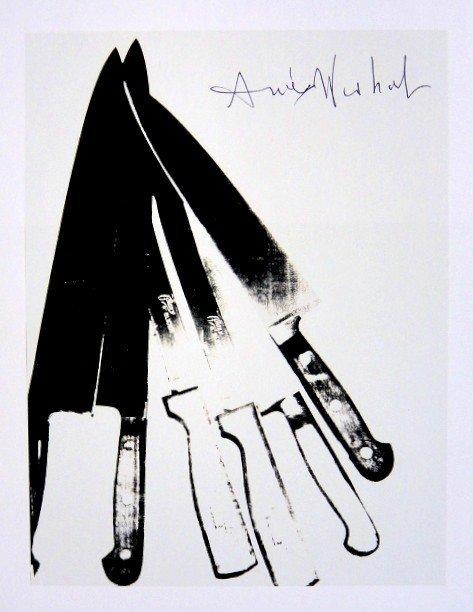 Andy Warhol, signed Print, Knives, 1986
