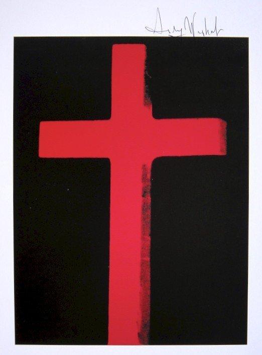Andy Warhol, signed Print, Cross, 1986