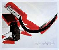 Andy Warhol signed Print Hammer and Sickle 1986