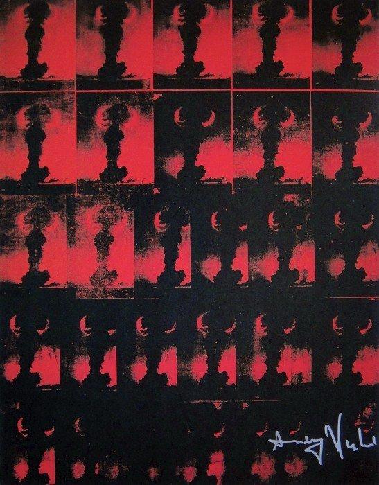 Andy Warhol, signed Print, Atomic Bomb, 1986