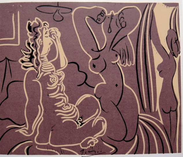 PABLO PICASSO, Hand signed Lithograph, 1971