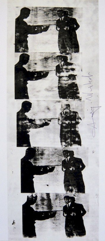 Andy Warhol, signed Print, Cagney, 1986