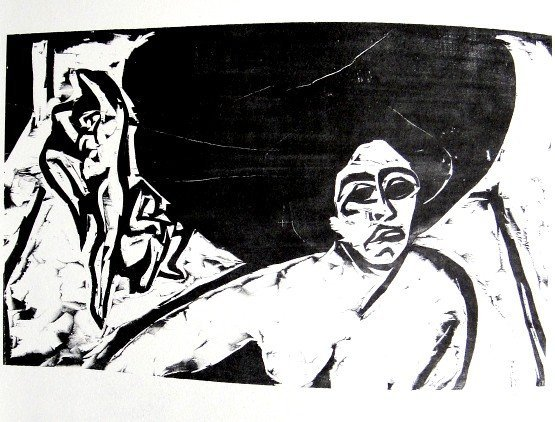 Ernst Ludwig KIRCHNER, original Lithograph, 1962