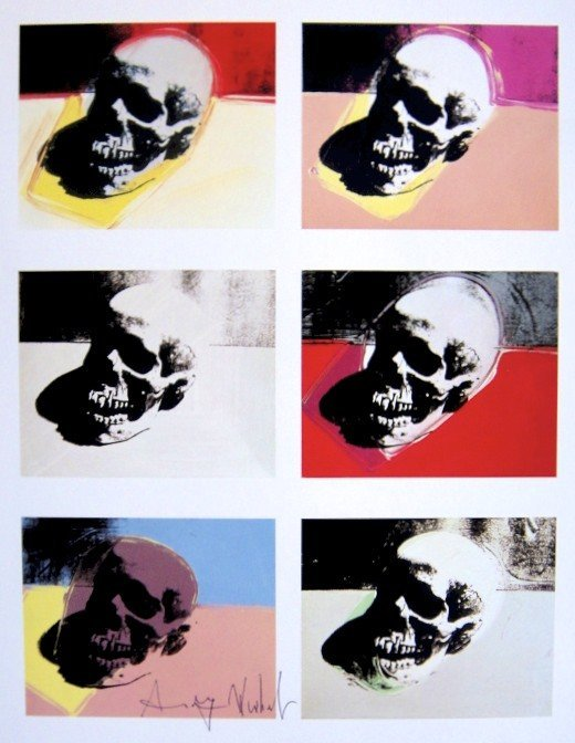 Andy Warhol, signed Print, Skull, 1986