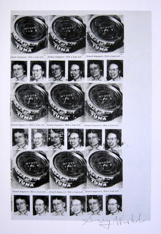 Andy Warhol, signed Print, Seized shipment, 1986