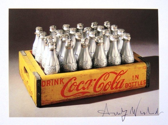 Andy Warhol, signed Print, Silver Coke Bottles, 1986