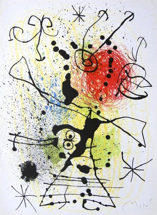 Joan MIRO, hand signed original Lithograph, 1959
