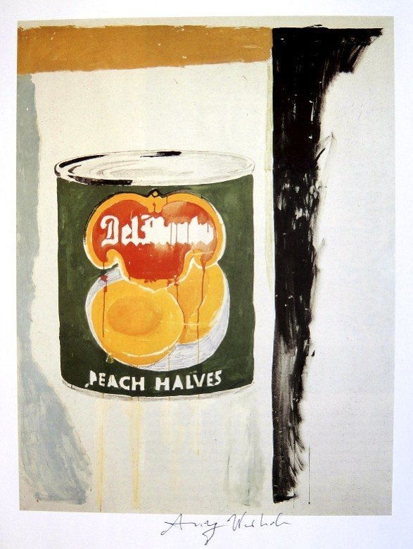 Andy Warhol, signed Print, Peach Halves, 1986