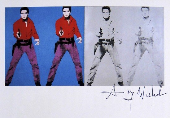Andy Warhol, signed Print, Elvis I and II, 1986