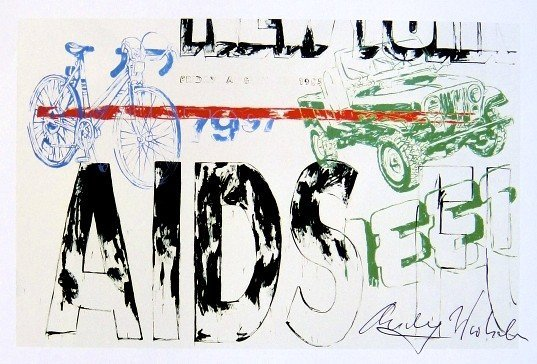 Andy Warhol, signed Print, Jeep..., 1986