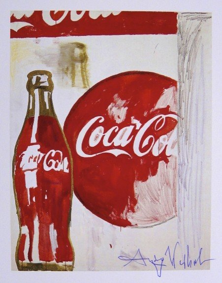 Andy Warhol, signed Print, Coca-Cola, 1986