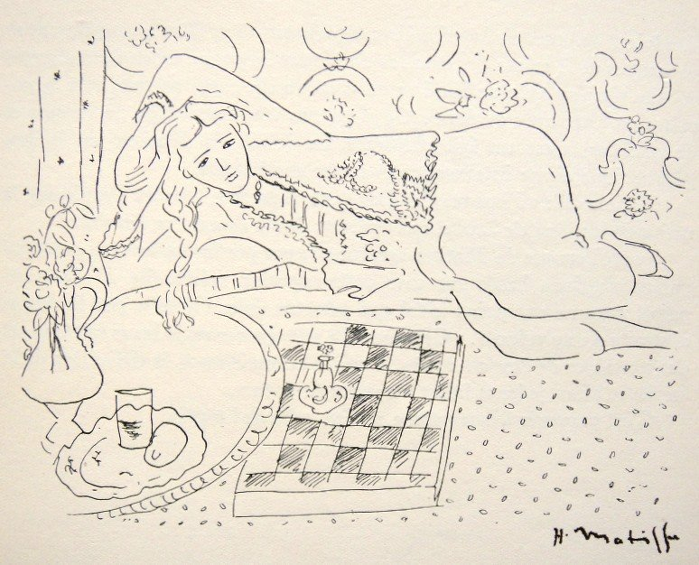 Henri MATISSE, hand signed Lithograph, 1944
