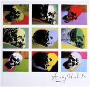 Andy Warhol, signed Print, Skulls, 1986