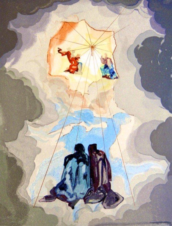 Salvador DALI, Signed Woodcut - The Divine Comedy