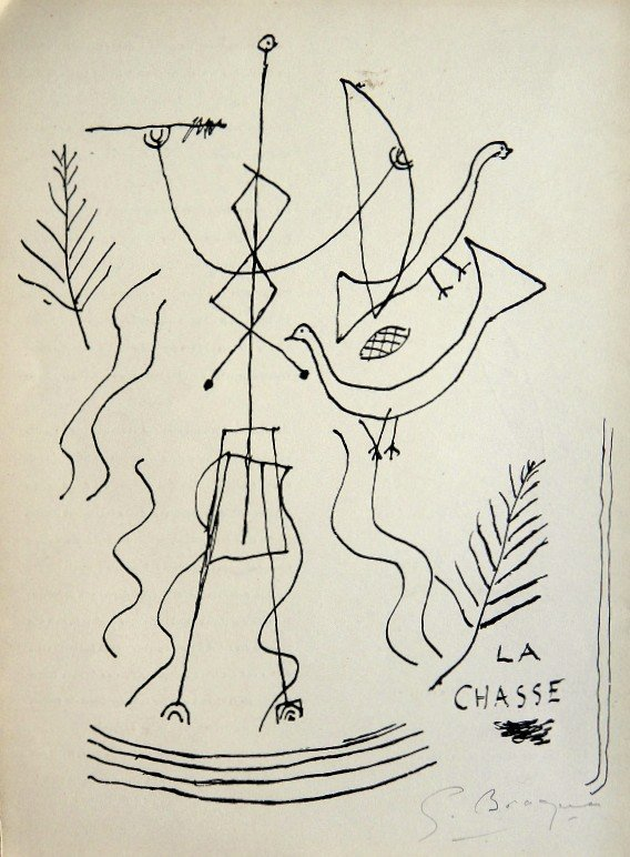 Georges Braque, original signed Lithograph, 1967