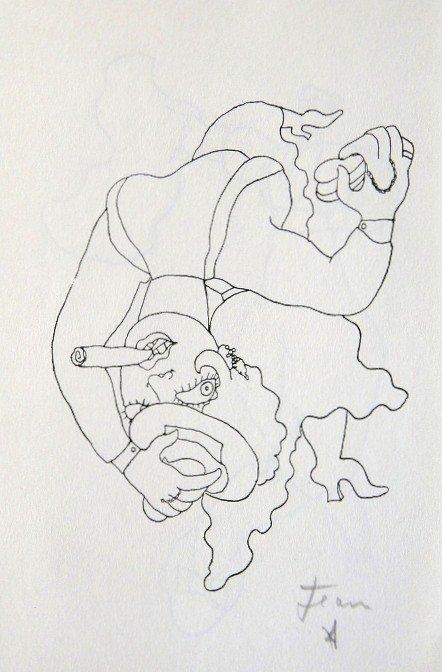Jean COCTEAU, Signed Print 1958