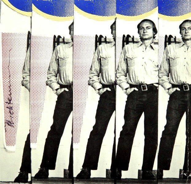 Roy LICHTENSTEIN, signed Print, Self-Portrait, 1975