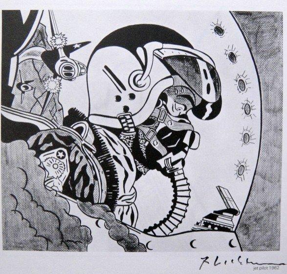 Roy LICHTENSTEIN, signed Print, Jet pilot, 1975