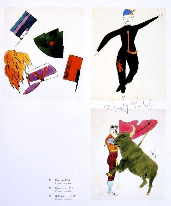 Andy Warhol, signed Print, Hats, Dancer, Bullfighter,