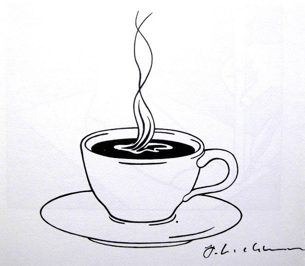 Roy LICHTENSTEIN, signed Print, Cup of Coffee, 1975