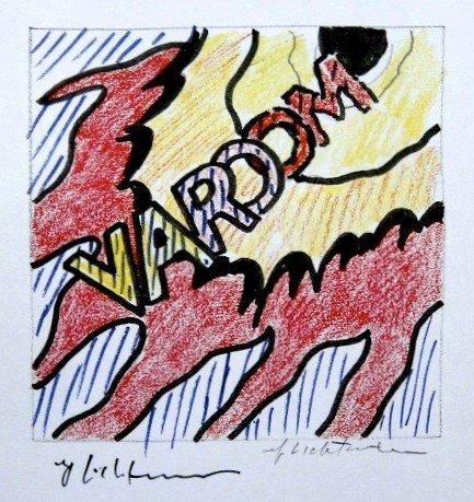Roy LICHTENSTEIN, signed Print, Varoom, 1975