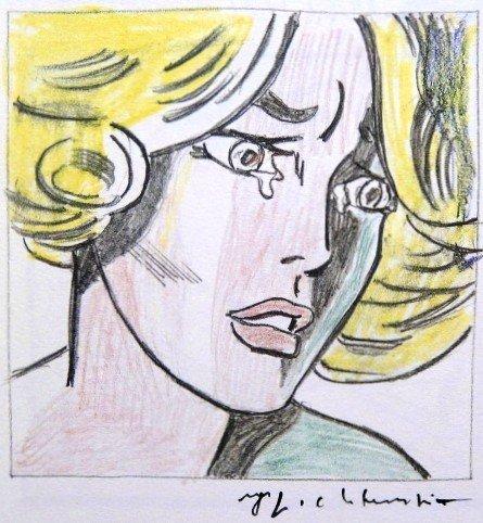 Roy LICHTENSTEIN, signed Print, Girl, 1975