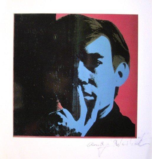 Andy Warhol, signed Print, Self-Portrait, 1986