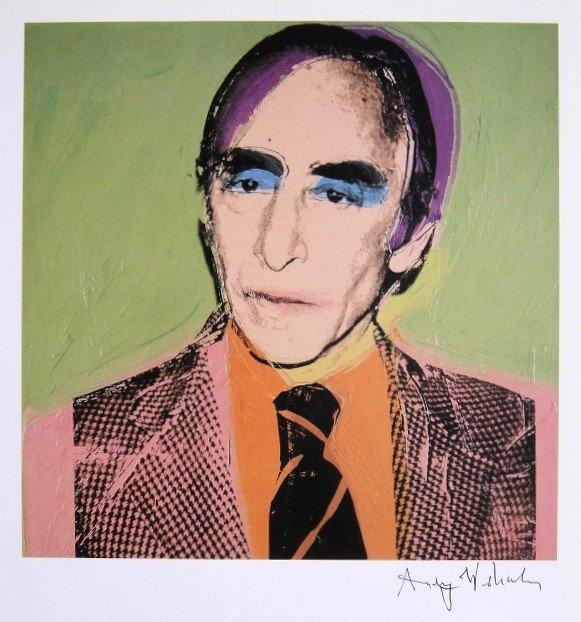 Andy Warhol, signed Print, Leo Castelli, 1986