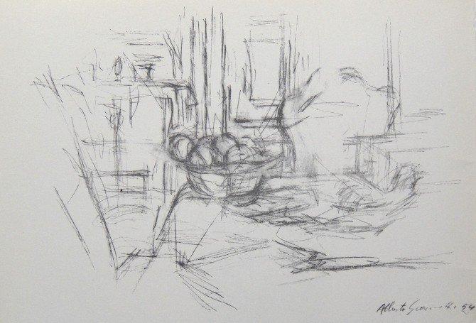 Alberto Giacometti, original Lithograph Derriere le