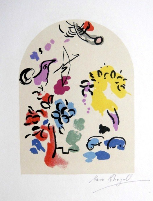 Marc Chagall, signed Heliolitho 1962