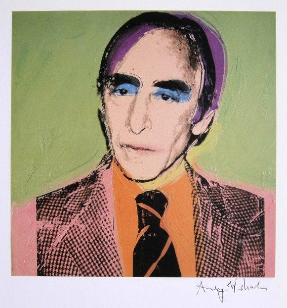 Andy Warhol, signed Print, Leo Castelli, 1986