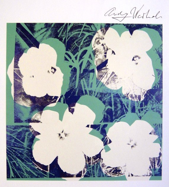 Andy Warhol, signed Print, Flowers, 1986