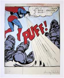 Andy Warhol, signed Print, Superman, 1986
