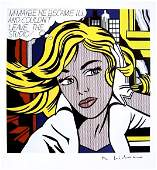 Roy LICHTENSTEIN, signed Print, m-maybe... 1984