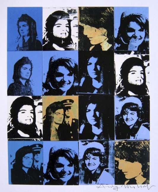 Andy Warhol, signed Print, 16 Jackies, 1986