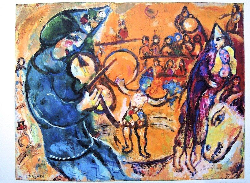 "Marc CHAGALL, ""Le Cirque D'IzisÓ original Lithograph"