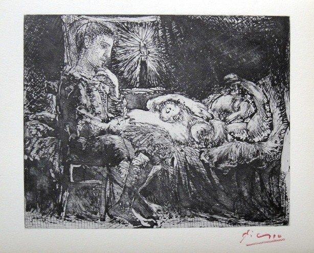 "Pablo PICASSO  ""Suite Vollard"" Lithograph 1952"
