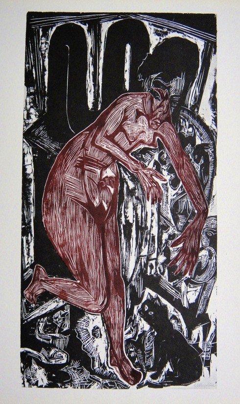Ernst Ludwig KIRCHNER, original Lithograph, 1962