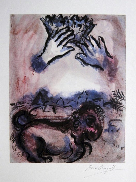 Marc Chagall, signed Print 1962
