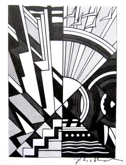 Roy LICHTENSTEIN, signed Print, Town and Country, 1975