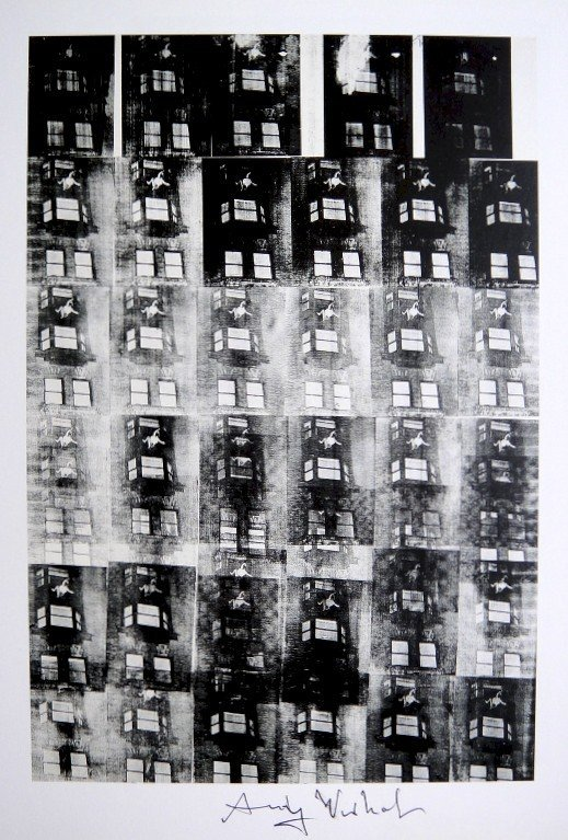 Andy Warhol, signed Print, Suicide, 1986