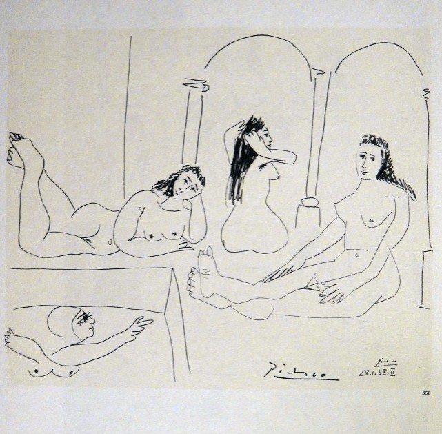 "Pablo Picasso stamped Print "" Dessins "", 1969"